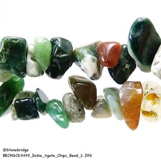 India Agate - Chips Bead