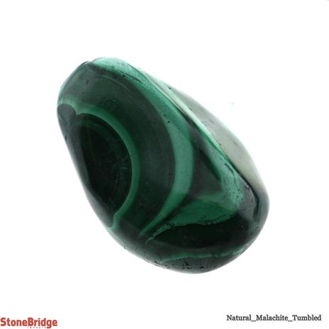 "Malachite Tumbled Stones ""A Quality"" 1/2 lb Bag"