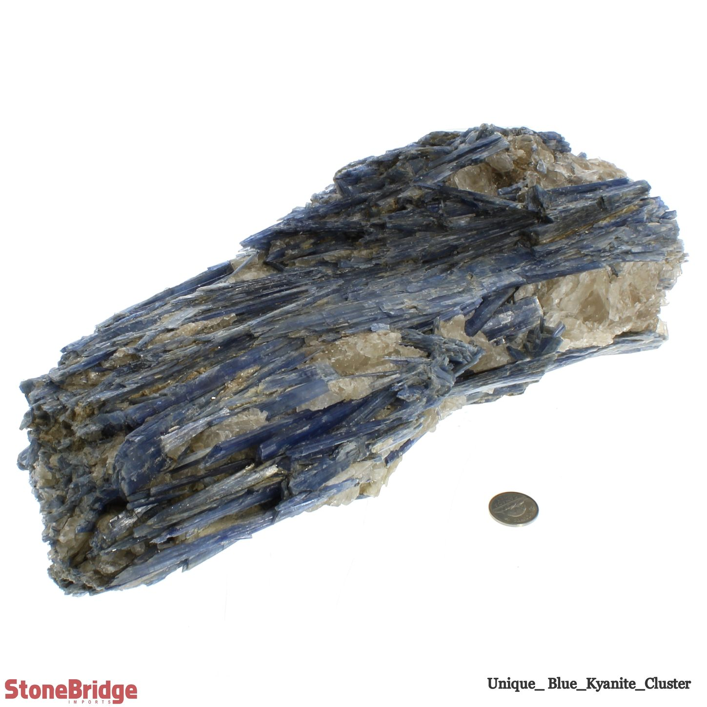 "Blue Kyanite Cluster - Unique #22 - 13 1/2"" x 5 3/4"" x 5 3/4"""