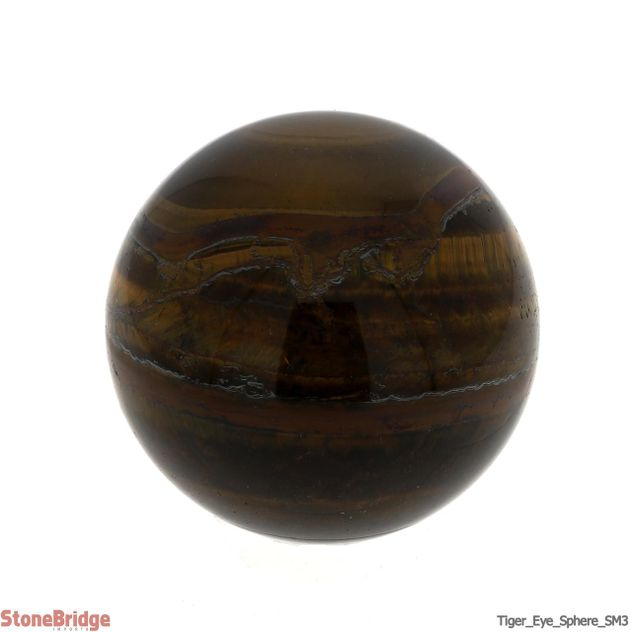 "Tiger Eye Sphere - SM3 - 2 1/4"" to 2 3/8"""
