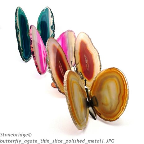 Agate Slice Butterfly - Assorted colours