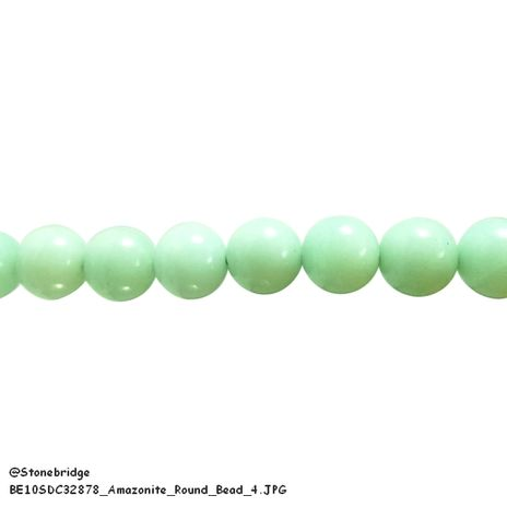 "Amazonite - Round Bead 7"" strand - 12mm"
