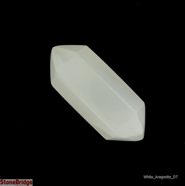 White Aragonite Double Terminated Wand - MD1 -