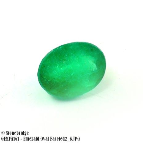 Emerald Oval Faceted #2