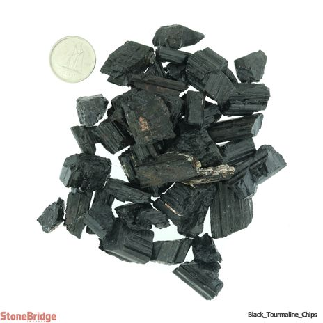 Tourmaline Black Chips - Crystal Rods - X-Small
