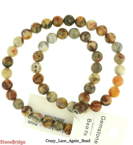 Crazy Lace Agate - Round Bead