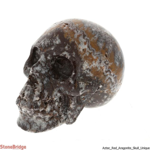 Aztec Red Aragonite Skull - Unique #10