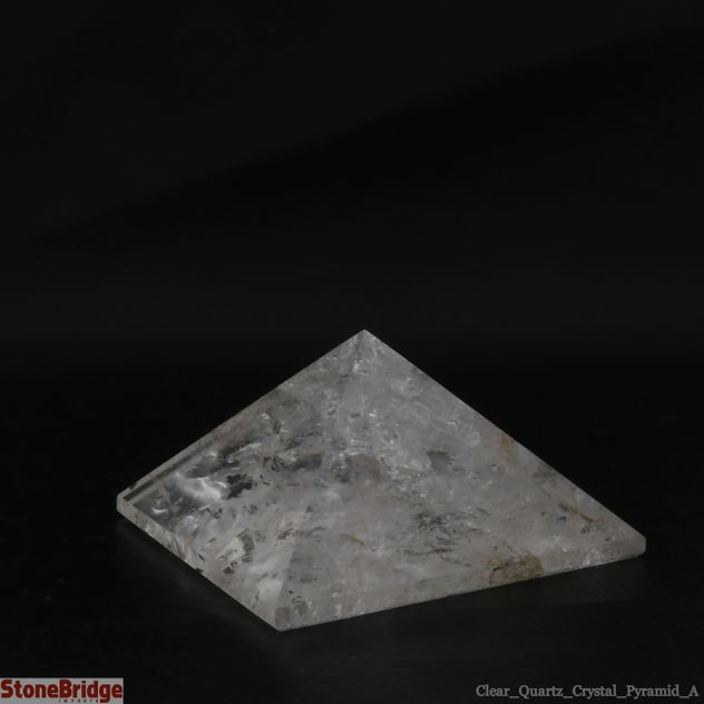 "Quartz Crystal Pyramid - Quality A Size #9 - 3 1/4"" to 3 1/2"""