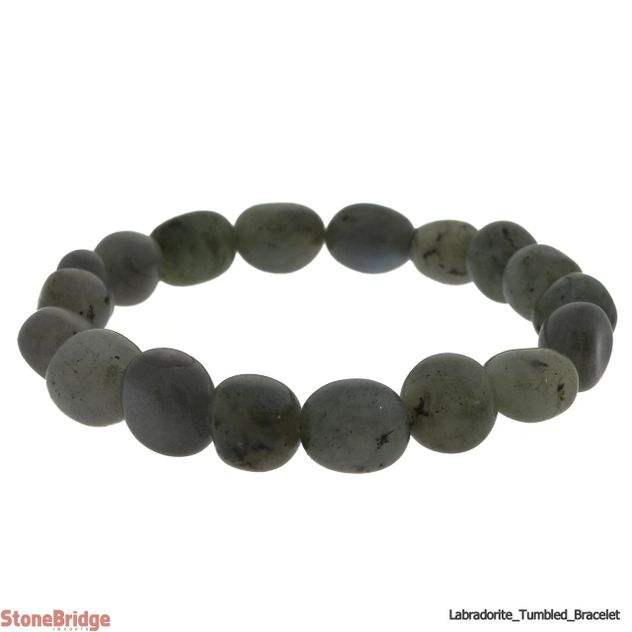 Labradorite Tumbled Bead Stretch Bracelet