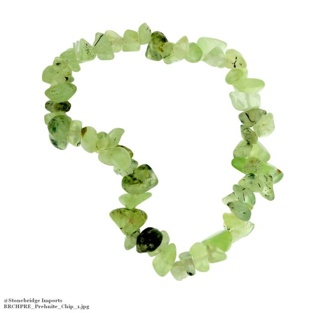 Prehnite Chip Bead Stretch Bracelet