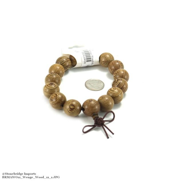 Wenge Wood Mala Bracelet - 15mm -#11