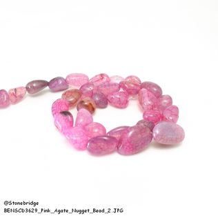 Pink Agate - Nugget Bead