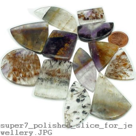 Super 7 Polished Slice For Jewellery - Small - 19mm to 40mm