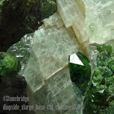 """Diopside crystal specimen that stands up Size #1 - 3 1/2"""" to 6"""""""