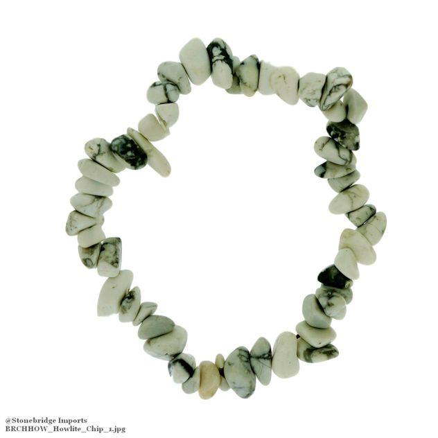 Howlite Chip Bead Stretch Bracelet