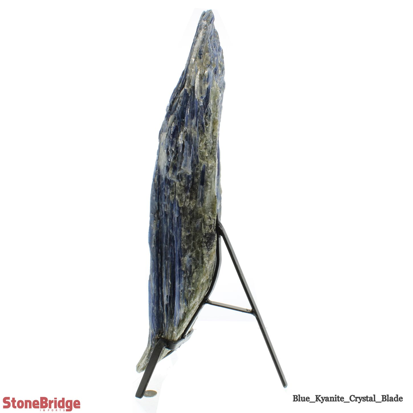 """Blue Kyanite Cluster Blade on Iron Base - Unique #4 - 21 1/2"""" Tall"""