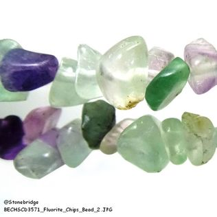 "Fluorite - Chips Bead 32"" strand - 5 to 8mm"