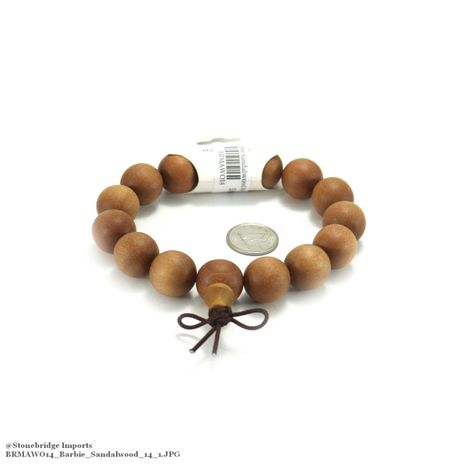 Barbie Sandalwood Mala Bracelet - 15mm -#14