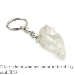 Quartz Crystal Point Key Chain