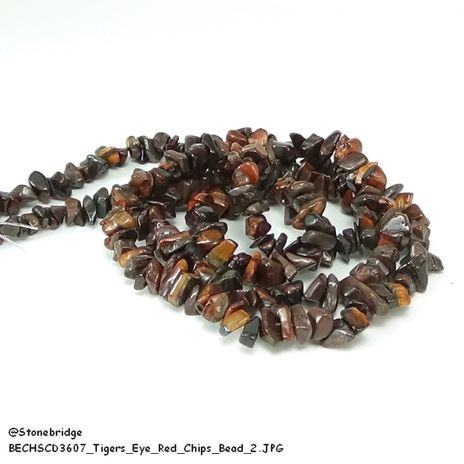 Tiger's eye Red - Chips Bead