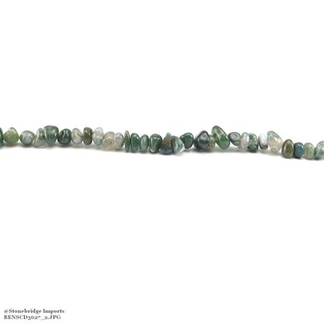 """Moss Agate - Nugget Bead 15"""" strand - 8 to 15mm, #1"""