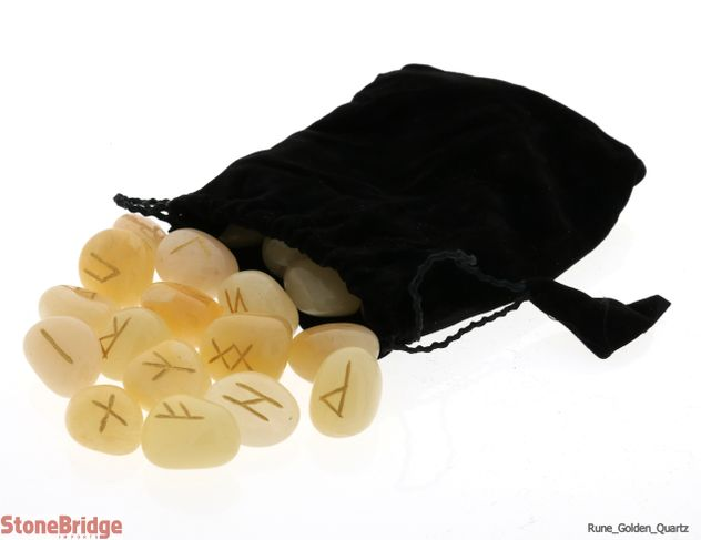 Golden Quartz Runes Set