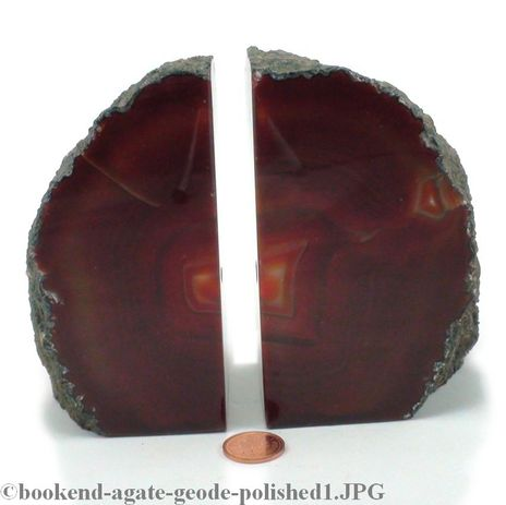 "Agate Geode Bookend - Small - 3"" to 6"" tall"