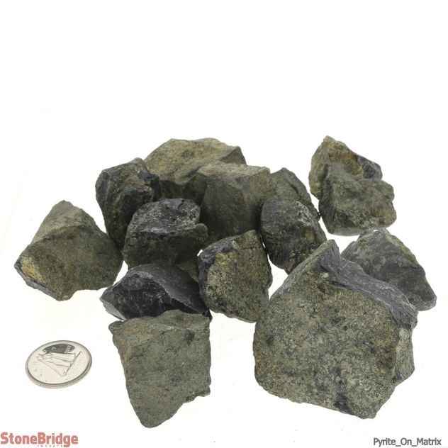 Pyrite On Matrix Chips - 500g bag