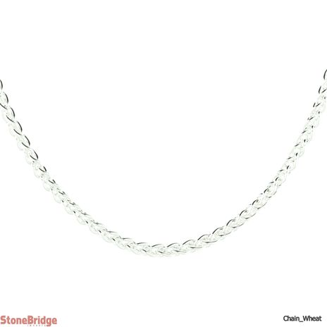 """Wheat 035 - Sterling Silver Chain - 18"""""""