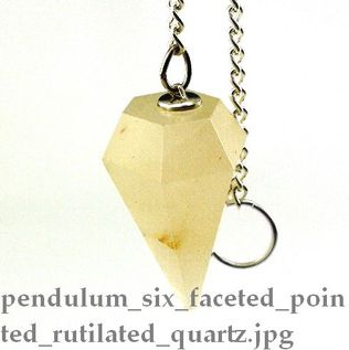 Pointed Rutilated Quartz Pendulum