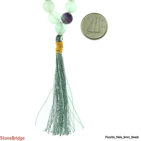 Fluorite Japa Mala Prayer Beads - 8mm