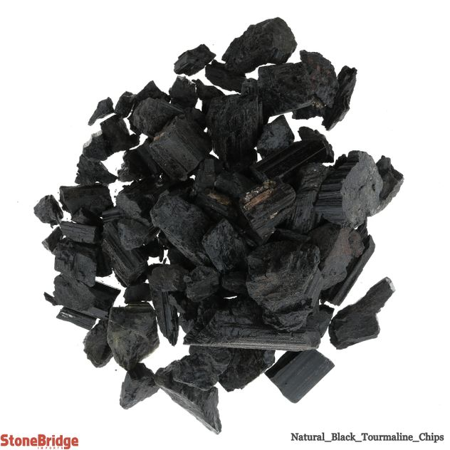 Tourmaline Black Crystal Chips - Tiny - 200g Bag
