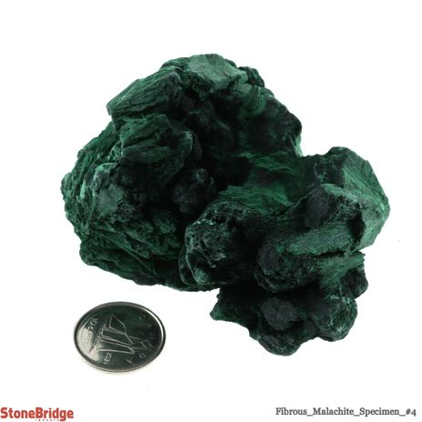 Fibrous Malachite Crystal - Size #4 - 150g to 200g