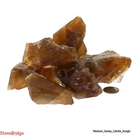Calcite Honey Mexico Chips - Large