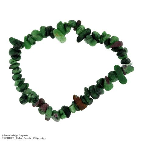 Ruby Zoisite Chip Bead Stretch Bracelet