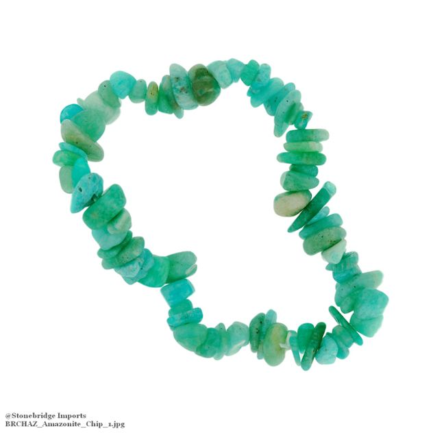 Amazonite Chip Bead Stretch Bracelet