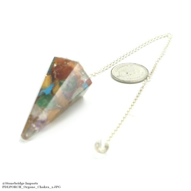 Chakra Orgone Pendulum with Bead on Chain