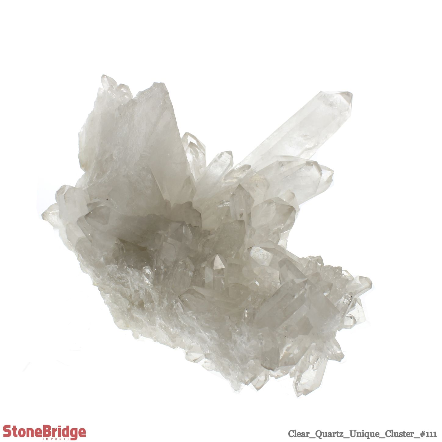 "Clear Quartz Cluster - Unique #111 - 10 3/4"" x 9 1/4"" x 9 1/2"""