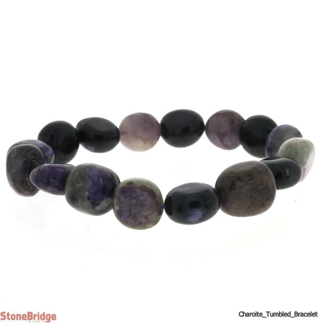 Charoite Tumbled Bead Stretch Bracelet