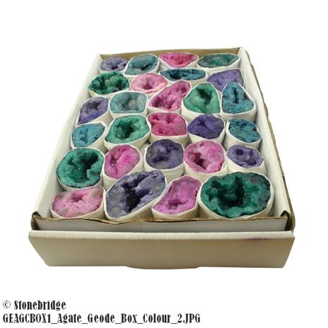 Agate Geode Mini Coloured box