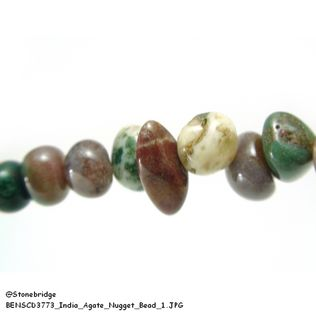 India Agate - Nugget Bead
