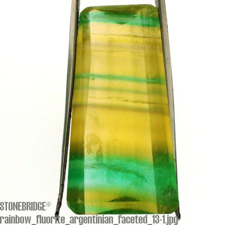 Rainbow Fluorite Faceted Cabochon #13
