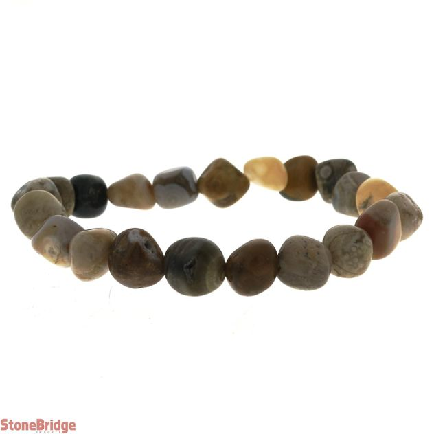 Jasper Ocean Tumbled Bead Stretch Bracelet