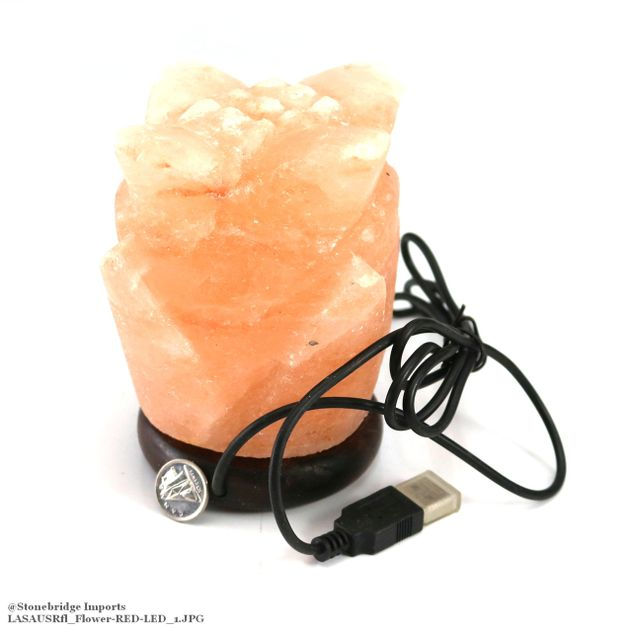 Himalayan Salt USB Lamp - Flower Shape