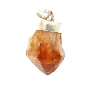 Citrine pendant with silver bail