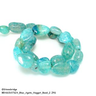Blue Agate - Nugget Bead