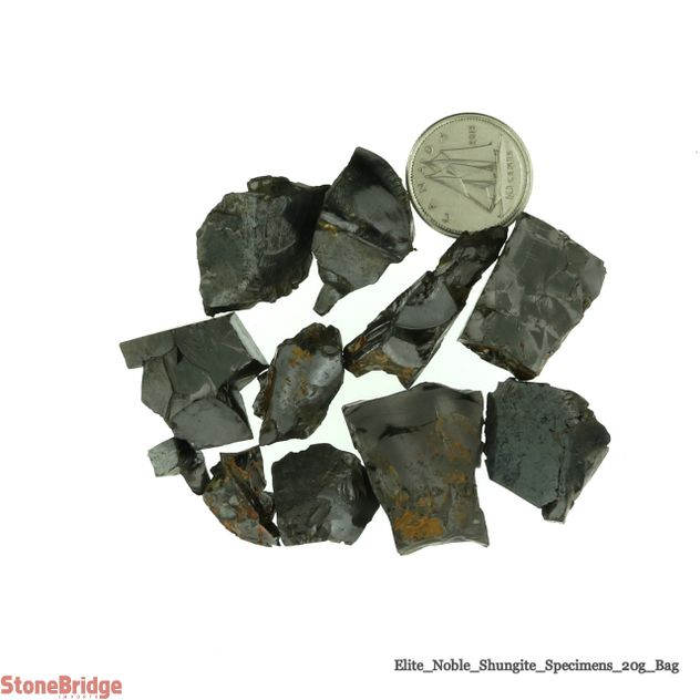 Elite Noble Shungite Rough 20g bag