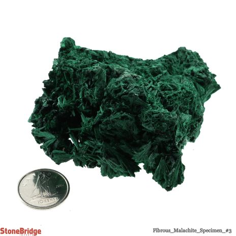 Fibrous Malachite Crystal - Size #3 - 100g to 150g