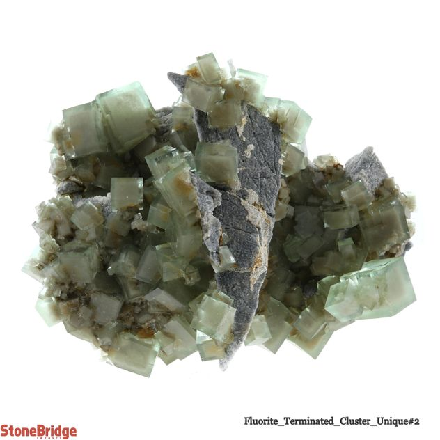 "Fluorite Terminated Cluster - Unique #2 - 5 1/4"" x 4 1/2"" x 4"""