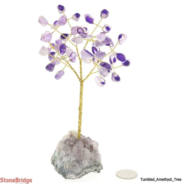 Amethyst Gem Tree with Wire Trunk 6""